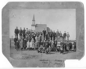 Primary view of object titled '[Canyon, Texas students and school]'.