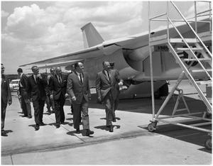 Primary view of object titled 'Vice-President H. Humphrey Visits Carswell AFB'.
