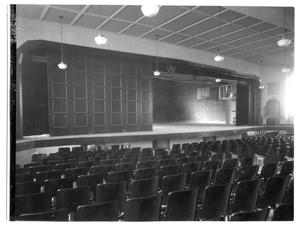 Primary view of object titled 'Wellington High School, auditorium, gym & stage combined'.