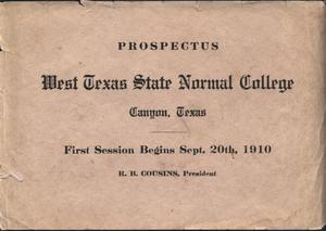 Primary view of object titled 'The West Texas State Normal College, Canyon, Texas : prospectus'.