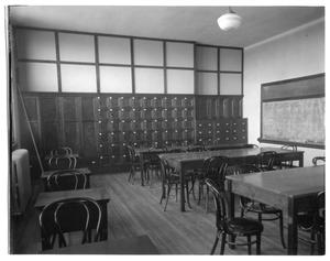 Primary view of object titled 'Wellington High School, sewing room-domestic arts'.