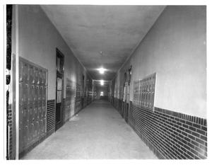 Primary view of object titled 'Wellington High School corridor, second floor'.
