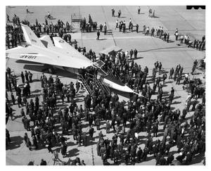 Primary view of object titled 'Officers in Line to View the First F-111'.