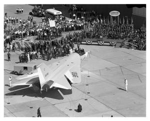 Primary view of object titled 'Crowds View the First F-111'.