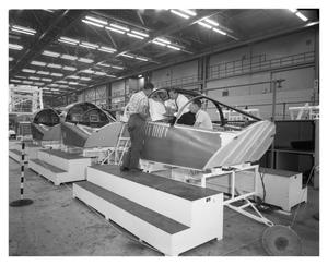 Primary view of object titled 'F-111 Escape Capsule on Assembly Line'.