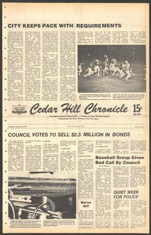 Primary view of object titled 'Cedar Hill Chronicle (Cedar Hill, Tex.), Vol. 15, No. 11, Ed. 1 Thursday, November 16, 1978'.
