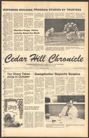 Primary view of object titled 'Cedar Hill Chronicle (Cedar Hill, Tex.), Vol. 15, No. 12, Ed. 1 Thursday, November 23, 1978'.