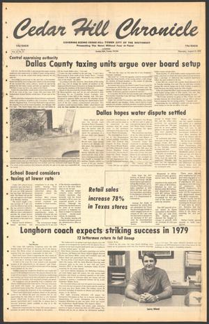 Primary view of object titled 'Cedar Hill Chronicle (Cedar Hill, Tex.), Vol. 15, No. 51, Ed. 1 Thursday, August 23, 1979'.