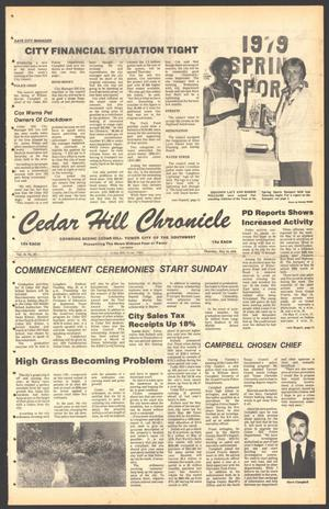 Primary view of object titled 'Cedar Hill Chronicle (Cedar Hill, Tex.), Vol. 15, No. 39, Ed. 1 Thursday, May 24, 1979'.