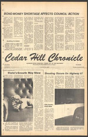 Primary view of object titled 'Cedar Hill Chronicle (Cedar Hill, Tex.), Vol. 15, No. 18, Ed. 1 Thursday, December 28, 1978'.