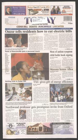 Primary view of object titled 'Today Newspapers (Duncanville, Tex.), Vol. 1, No. 2, Ed. 1 Thursday, March 26, 2009'.