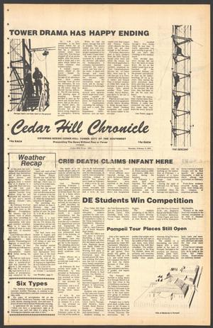 Primary view of object titled 'Cedar Hill Chronicle (Cedar Hill, Tex.), Vol. 15, No. 24, Ed. 1 Thursday, February 8, 1979'.