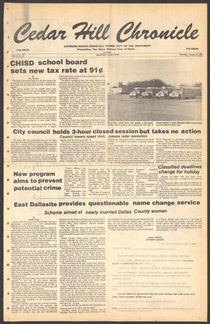 Primary view of object titled 'Cedar Hill Chronicle (Cedar Hill, Tex.), Vol. 15, No. 52, Ed. 1 Thursday, August 30, 1979'.