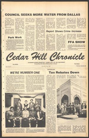 Primary view of object titled 'Cedar Hill Chronicle (Cedar Hill, Tex.), Vol. 15, No. 31, Ed. 1 Thursday, March 29, 1979'.