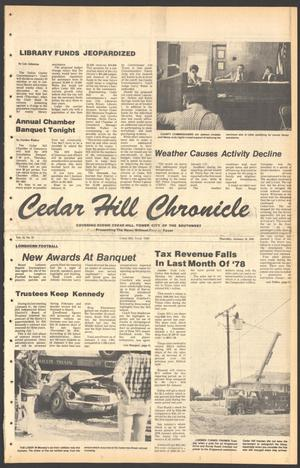 Primary view of object titled 'Cedar Hill Chronicle (Cedar Hill, Tex.), Vol. 15, No. 21, Ed. 1 Thursday, January 18, 1979'.