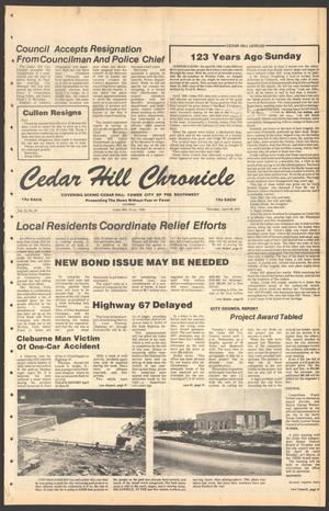Primary view of object titled 'Cedar Hill Chronicle (Cedar Hill, Tex.), Vol. 15, No. 35, Ed. 1 Thursday, April 26, 1979'.
