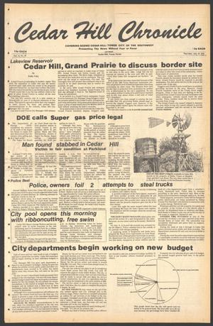 Primary view of object titled 'Cedar Hill Chronicle (Cedar Hill, Tex.), Vol. 15, No. 46, Ed. 1 Thursday, July 19, 1979'.