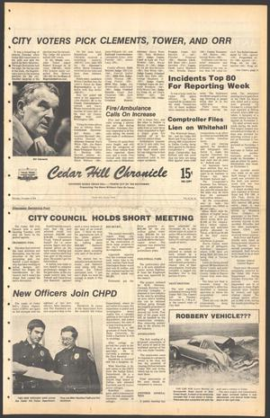 Primary view of object titled 'Cedar Hill Chronicle (Cedar Hill, Tex.), Vol. 15, No. 10, Ed. 1 Thursday, November 9, 1978'.