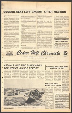Primary view of object titled 'Cedar Hill Chronicle (Cedar Hill, Tex.), Vol. 15, No. 4, Ed. 1 Thursday, September 28, 1978'.