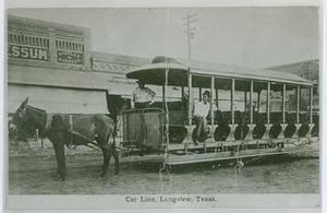 [Mule-drawn Trolley]