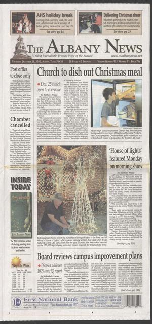 Primary view of object titled 'The Albany News (Albany, Tex.), Vol. 135, No. 31, Ed. 1 Thursday, December 23, 2010'.