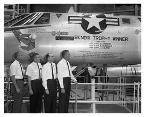Primary view of object titled 'B-58 #61 Bendix Trophy Winner'.