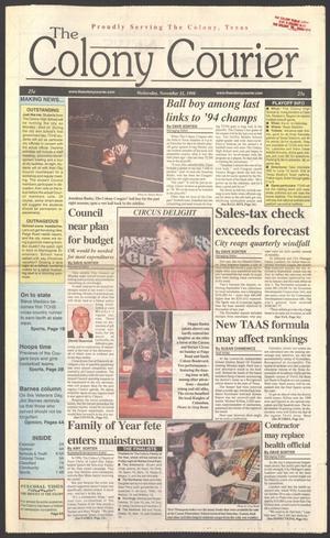 The Colony Courier (The Colony, Tex.), Vol. 2, No. 1, Ed. 1 Wednesday, November 11, 1998