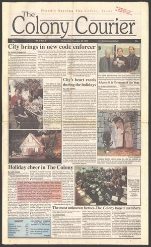The Colony Courier (The Colony, Tex.), Vol. 2, No. 7, Ed. 1 Wednesday, December 23, 1998