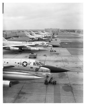 Primary view of object titled 'B-58 Flight Line at Carswell Air Force Base'.