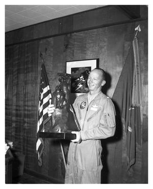 Primary view of object titled 'Colonel William R. Payne with Harmon Trophy Replica'.