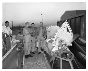 Primary view of object titled '[Crew of A/C After Landing]'.