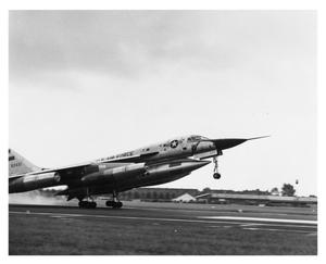 Primary view of object titled 'B-58 Hustler Touching Down in Paris'.