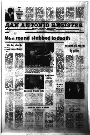 Primary view of object titled 'San Antonio Register (San Antonio, Tex.), Vol. 48, No. 44, Ed. 1 Thursday, February 9, 1984'.