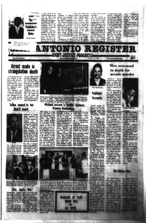Primary view of object titled 'San Antonio Register (San Antonio, Tex.), Vol. 48, No. 40, Ed. 1 Thursday, January 12, 1984'.