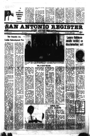 Primary view of object titled 'San Antonio Register (San Antonio, Tex.), Vol. 48, No. 30, Ed. 1 Thursday, October 27, 1983'.