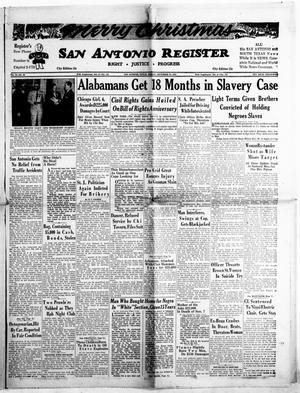 Primary view of object titled 'San Antonio Register (San Antonio, Tex.), Vol. 24, No. 48, Ed. 1 Friday, December 24, 1954'.