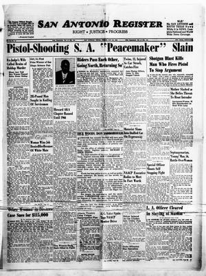 Primary view of San Antonio Register (San Antonio, Tex.), Vol. 32, No. 12, Ed. 1 Friday, May 25, 1962
