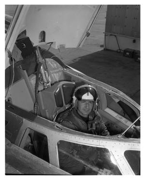 Primary view of object titled '[Dick Johnson in B-58 Cockpit]'.