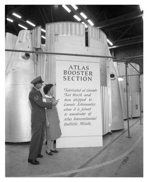 Primary view of object titled 'Atlas Missle Booster Section'.