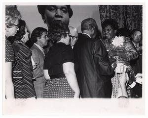 Primary view of object titled '[Barbara Jordan Greeting Guests]'.
