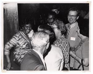 Primary view of object titled '[Barbara Jordan With Guests]'.