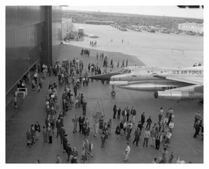 Primary view of object titled 'Airplane on Display at Open House'.