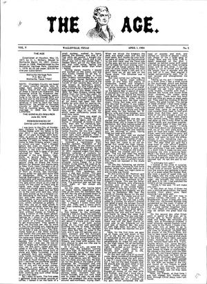Primary view of object titled 'The Age, Volume 5, Number 5, April 1, 1984'.