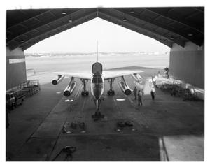 Primary view of object titled 'B-58 in a run station'.
