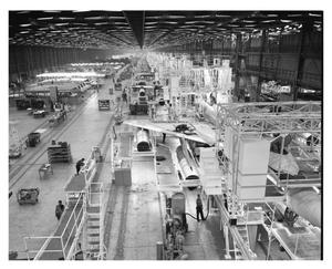 Primary view of object titled 'B-58 Assembly Line'.