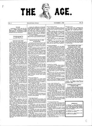 Primary view of object titled 'The Age, Volume 1, Number 12, November 1, 1980'.