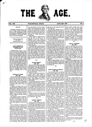 Primary view of object titled 'The Age, Volume 8, Number 1, January 1987'.