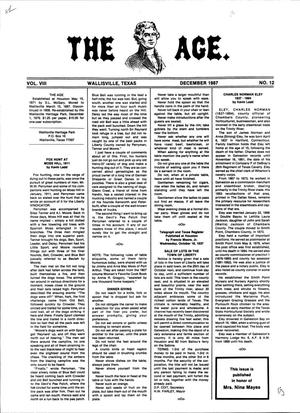 Primary view of object titled 'The Age, Volume 8, Number 12, December 1987'.