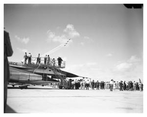 Primary view of object titled 'Thunderbirds and B-58 at Carswell AFB Air Show'.