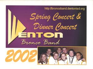 Primary view of object titled '[Denton High School Band Spring Concert Media Guide]'.